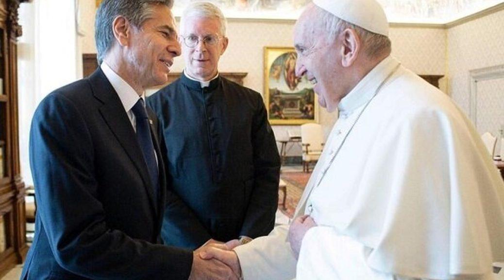 دیدار+وزیر+خارجه+آمریکا+با+پاپ